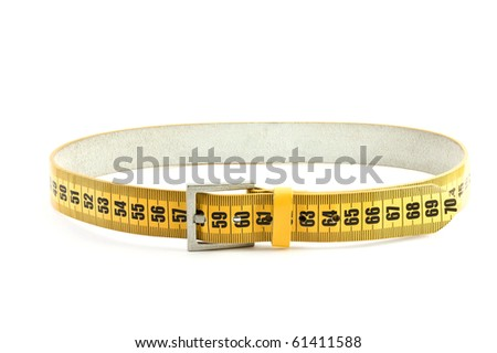 meter belt slimming isolated on a white background - stock photo