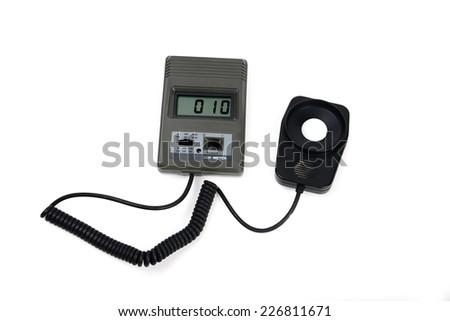 Meter For Measuring Light Intensity Isolated On White