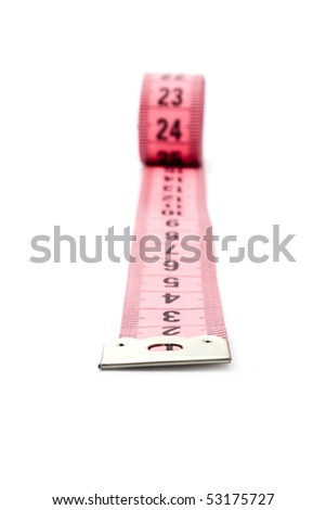 meter on a white background for your illustrations - stock photo