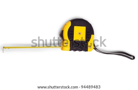 meter roulette instrument measuring  measuring tape isolated - stock photo