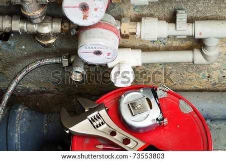 meters for water - stock photo