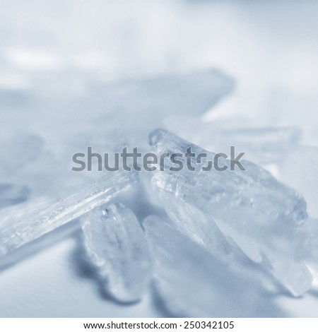 Methamphetamine crystal meth - stock photo