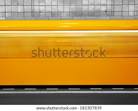 metro berlin - stock photo