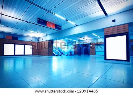 Metro channel - stock photo