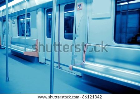metro interior in guangzhou China - stock photo