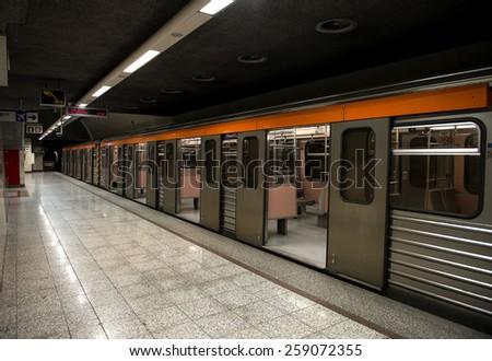 Metro station in Athens, Greece - stock photo