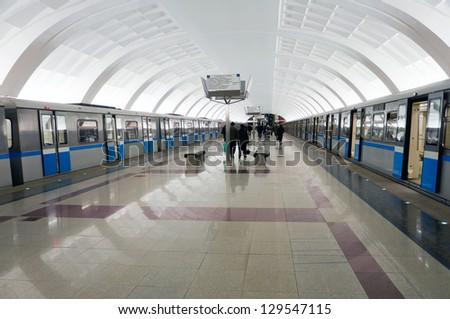 "Metro station ""Mitino"" in Moscow - stock photo"