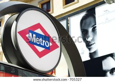 Metro stop - stock photo