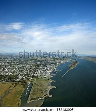 Metro Vancouver - Richmond, Steweston and Garry Point Kite Field - stock photo