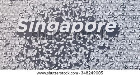 metropolis cities - singapore - stock photo