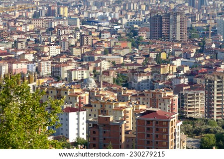 Metropolitan Municipality entered a competition to be chosen as European Green Capital of 2017. Istanbul will compete against 11 other cities including Bursa according to a EU Commission press release - stock photo