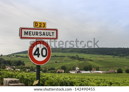 Meursault is one of the most famous white wines in Burgundy, France