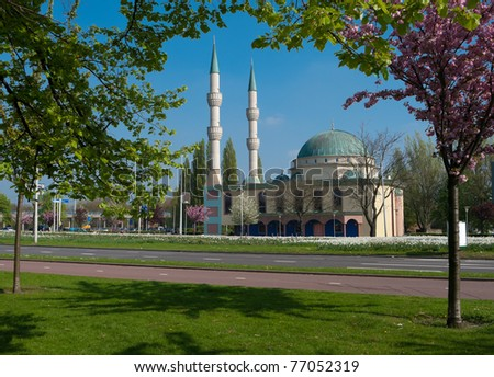 mevlana mosque in Rotterdam, located in Spangen, a district with over 80 percent immigrants