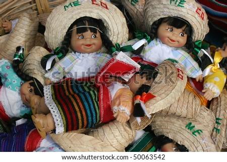 Mexcian dolls - stock photo
