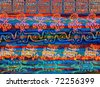 Mexican Background (aztec traditional style wallpaper, texture) - stock vector