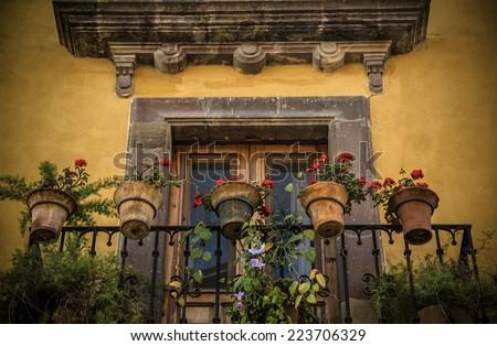 Mexican Balcony  - stock photo