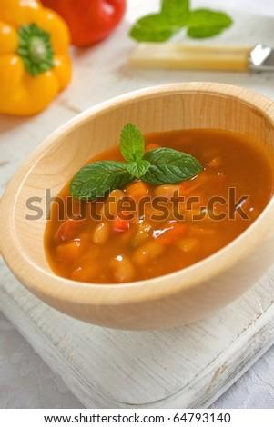 Mexican Bean Soup - stock photo