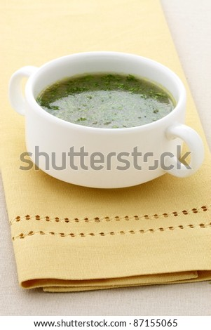 mexican beef consomme - stock photo