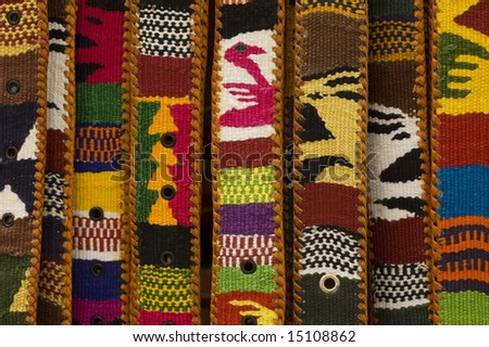 Mexican Belts Details - stock photo