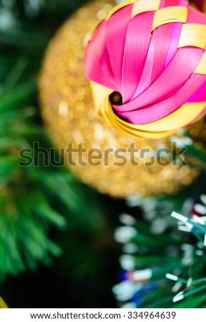 Mexican Christmas (colorful sphere and Christmas Tree) - stock photo