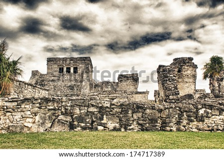 Mexican city of Tulum - Mayan Ruins.