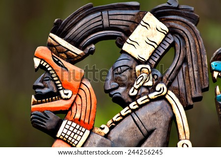 Mexican Crafts God Pakal - stock photo