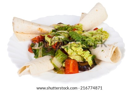 Mexican cuisine Mexico isolated on white background - stock photo