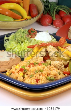 mexican fajitas made with delicious ingredients the most famous mexican plate