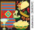 Mexican Fiesta Party elements individually grouped to make your own Fiesta - stock vector