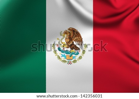 Mexican flag. - stock photo