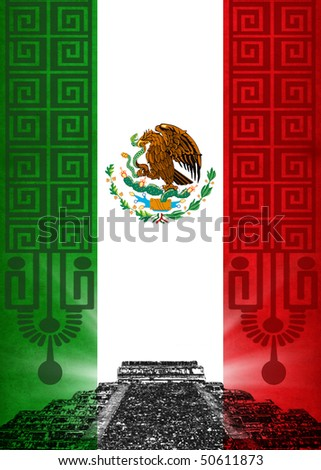Mexican flag - stock photo