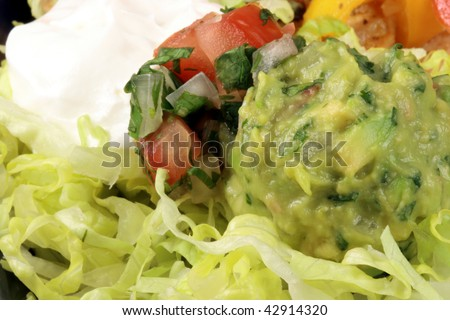 mexican food  made with delicious ingredients the most famous mexican plate