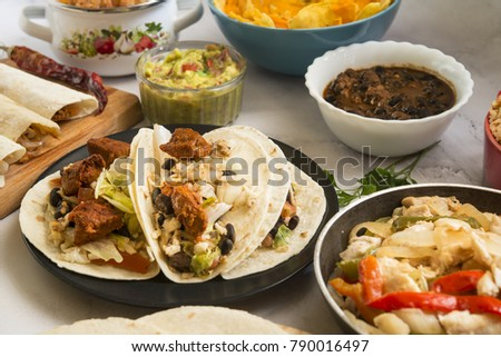 Mexican food (plates) & Mexican Food Plates Stock Photo (Safe to Use) 790016497 - Shutterstock