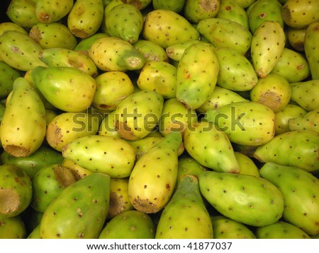 Mexican fruits for sale at an outdoor market in Chiapas, Mexico - stock photo