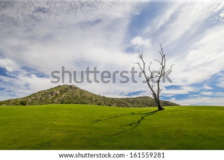 Mexican golf landscape - stock photo