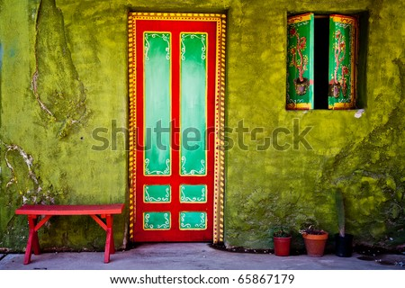 Mexican house - stock photo