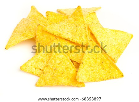 mexican nachos isolated on a white background