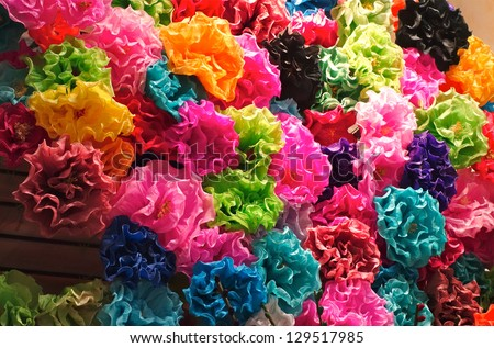 Mexican Paper Flowers - stock photo