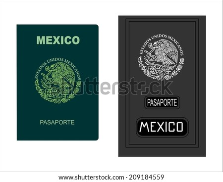 Mexican Passport - stock photo