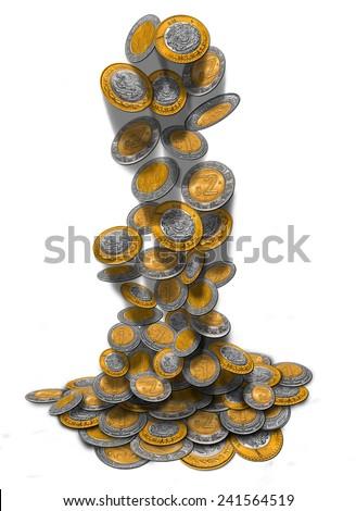 Mexican Peso Rain - stock photo