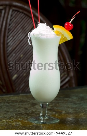 Mexican Pina Colada at a Restaurant - stock photo