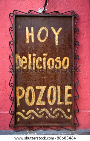 Mexican restaurant sign. - stock photo