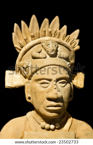 Mexican statue of a noble man - stock photo