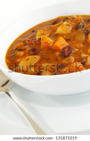 mexican style soup - stock photo