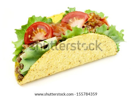 mexican taco isolated