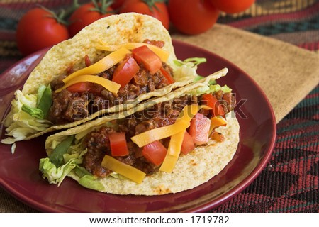 Mexican tacos - stock photo