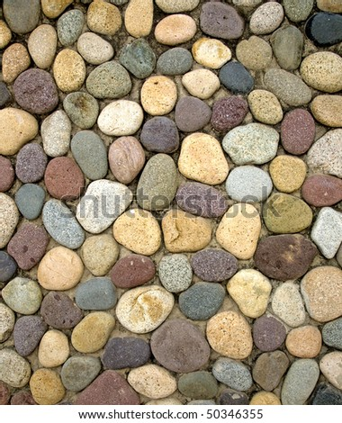 Mexican wall stones - stock photo