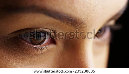 Mexican woman's moody eyes