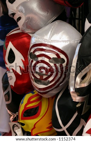 Mexican wrestling masks - stock photo