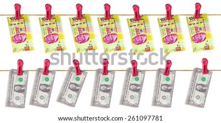 Mexico and United States Economic Relationship - stock photo